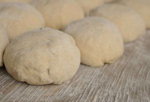 Balls of dough are prepared exactly the same every